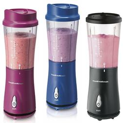 Three different colored Hamilton Blenders are displayed